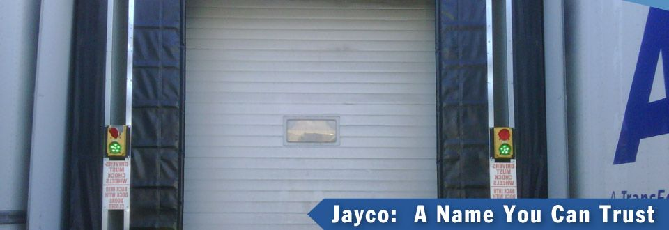 jayco: A name you can trust / loading dock door